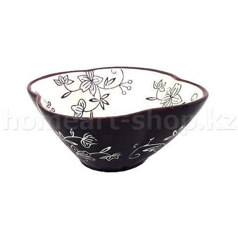 Салатник цветной, глазурь, каменная керамика, 5.5 х 11.5 см.