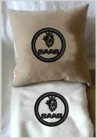Плед в чехле с логотипом Saab