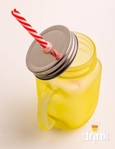 Матовая баночка для смузи - Желтая