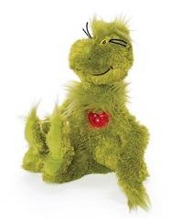 Гринч мягкая игрушка со светящимся сердцем