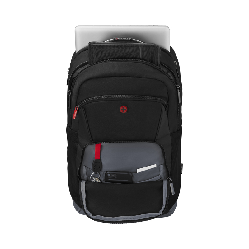 Рюкзак WENGER Buffer, цвет чёрный, отделение для ноутбука 16, 45х32х23 см., 21 л. (604970) - Wenger-Victorinox.Ru