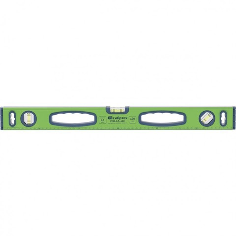 Уровень алюминиевый УСМ-0,5-600, фрезерованный, 3 глазка, магнитный, рукоятки, 600 мм Сибртех