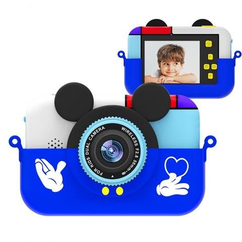 Детский цифровой фотоаппарат Микки Маус Синий  2 камеры