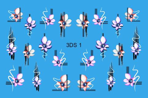 3D слайдер для ногтей со стразами, 3DS- 1