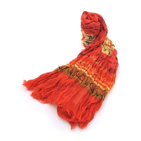 Платок Колесо Драхмачакры (красный)