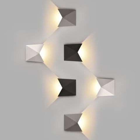 Batterfly белый уличный настенный светодиодный светильник 1517 TECHNO