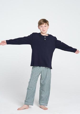 Трикотажная кофта + фланелевые брюки для мальчиков