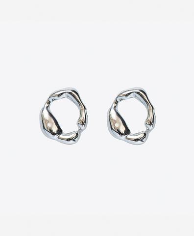 Серебряные серьги кружочки