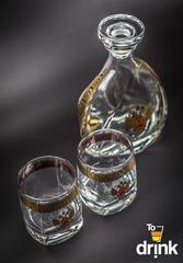 Подарочный  набор «Отчизна»: штоф 800 мл, 2  стакана 275 мл, фото 4