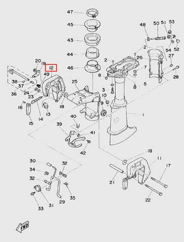 Скоба струбцины левая для лодочного мотора T5 Sea-PRO (10-12)
