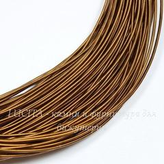 Канитель для вышивания жесткая 1,2 мм (цвет - темно-коричневый)