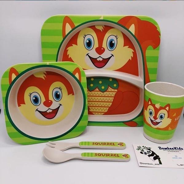 Новинки Детская посуда из бамбука Bamboo Ware Kids Set Детская_посуда_из_бамбука-7.jpg