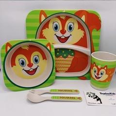 Детская посуда из бамбука Bamboo Ware Kids Set