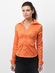 3339-1 рубашка женская, оранжевая