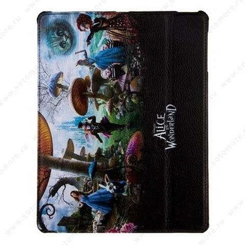 Чехол-книжка Jisoncase PU для Apple iPad Air 1 с рисунком черный вид 87