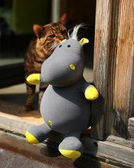Подушка-игрушка антистресс «Бегемот малыш Няша», желтый 5