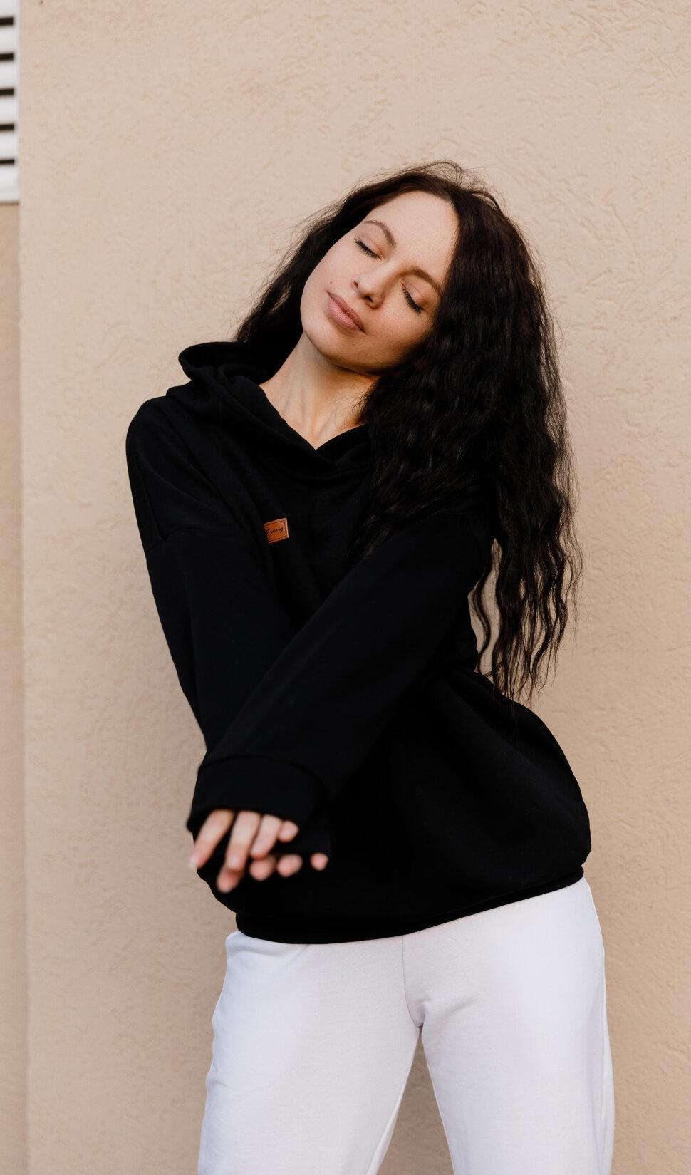 Черная женская спортивная толстовка - Forstrong Basic Oversize