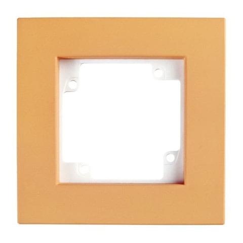 Рамка на 1 пост. Цвет Персиковый. GUSI Electric City. С511-020-001
