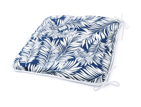 Сидушка на стул Пальма синий уличная коллекция