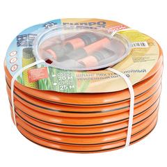 Шланг поливочный 20 мм, 20 м, оранжевый с полосой (фитинги в подарок)