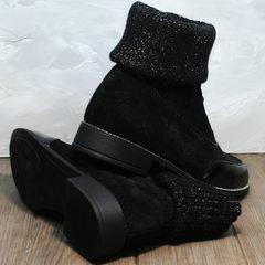 Женские замшевые ботинки Kluchini 5161 k255 Black