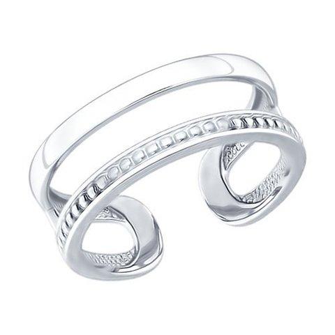 94012166- Серебряное кольцо на фалангу