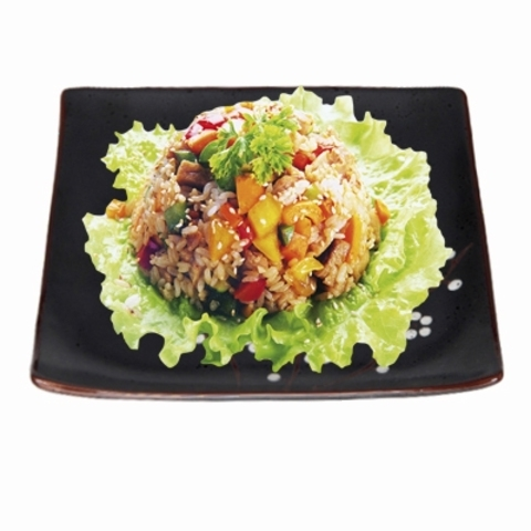 Рис с говядиной (острый соус)
