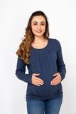 Джемпер для беременных и кормящих 01832 синий