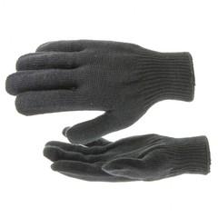 Перчатки трикотажные, акрил, черный, оверлок Россия Сибртех