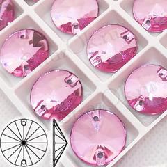Стразы пришивные стеклянные Rivoli Light Rose, Риволи Круг Лайт Розе светло-розовый на StrazOK.ru купить дешево