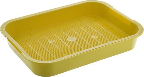 HOMECAT туалет для кошек с сеткой на ножках 2 см желтый 37х27х8 см