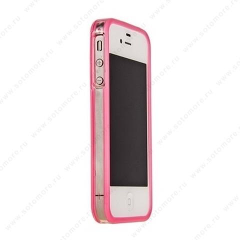 Бампер GRIFFIN для iPhone 4s/ 4 розовый с прозрачной полосой