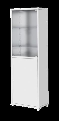 Шкаф металлический двухсекционный одностоврчатый МСК - 646.02 - фото