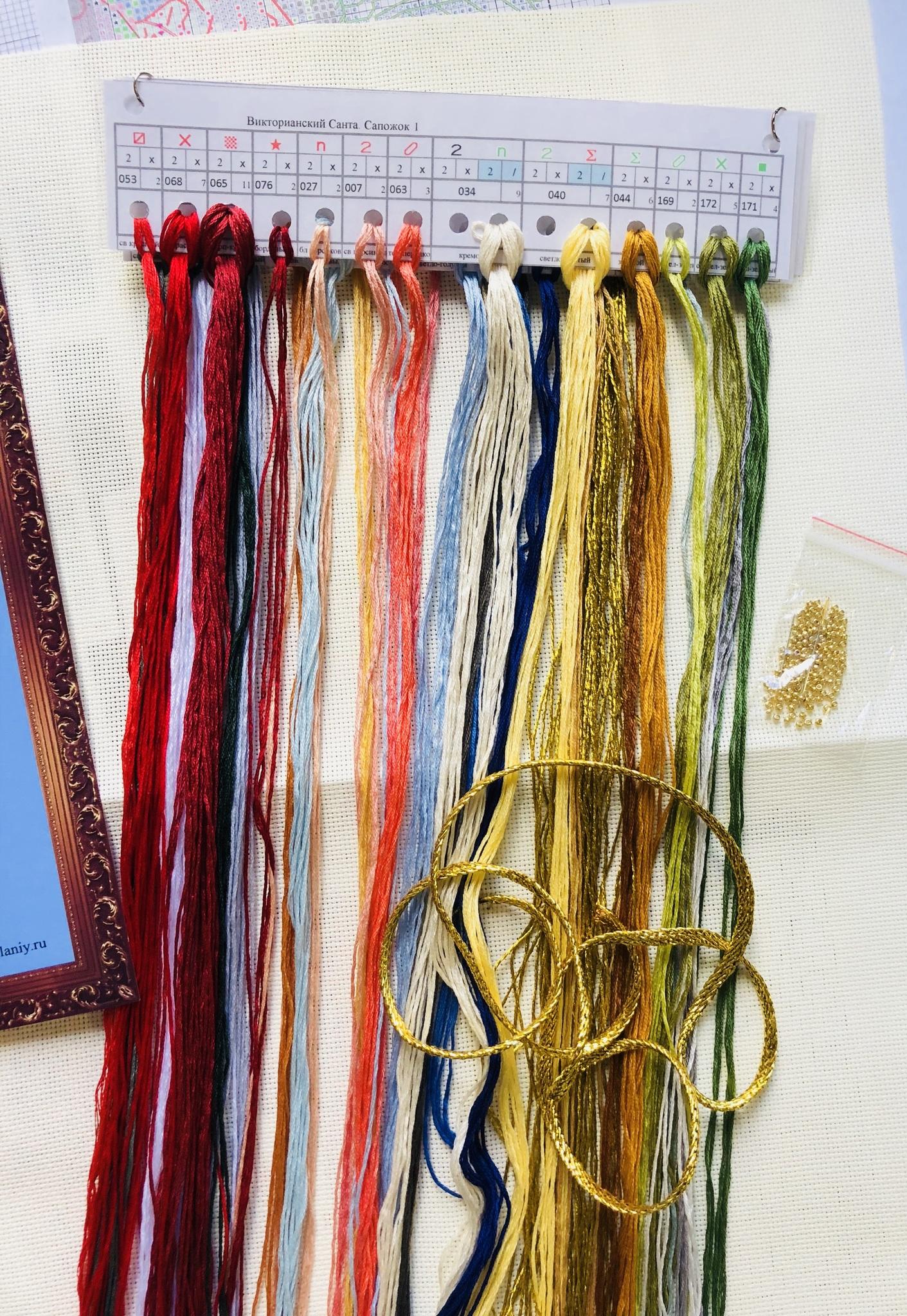 Набор для вышивания. Сапожок. Викторианский Санта Victorian Santa Stocking. Арт. 8479