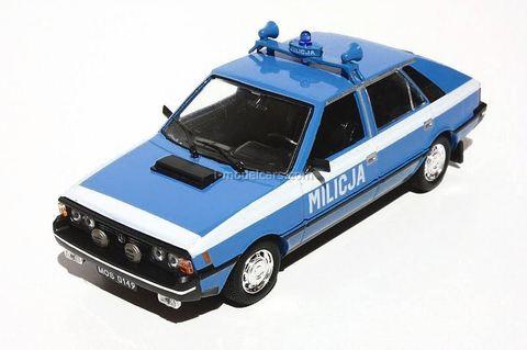 FSO Polonez 1500 Milicja Coupe Police light blue - white 1:43 DeAgostini Kultowe Auta PRL-u