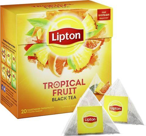 Чай  черный Lipton Тропические фрукты 20 пирамидок
