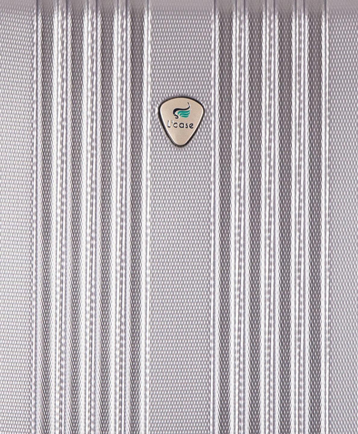 Чемодан со съемными колесами L'case Bangkok-18 Серебро ручная кладь (S)