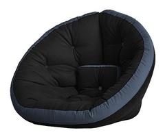 Кресло Farla Lounge Чёрное с синим