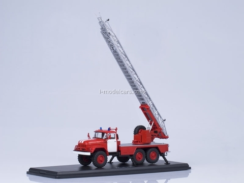 ZIL-131 AL-30 fire engine red with white stripes Start Scale Models (SSM) 1:43