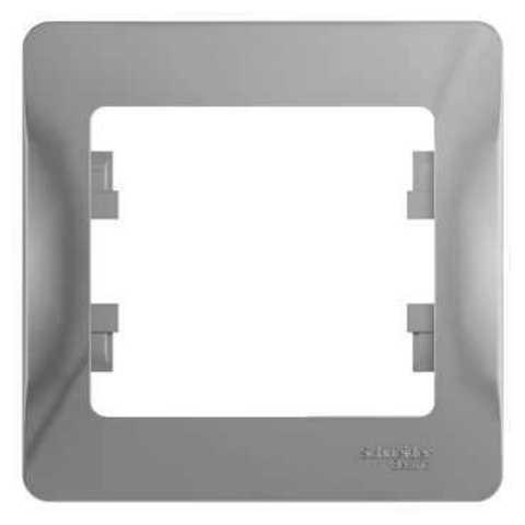 Рамка на 1 пост. Цвет Алюминий. Schneider Electric Glossa. GSL000301