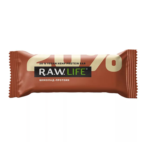 R.A.W Life орехово-фруктовый батончик Шоколад протеин 47 гр