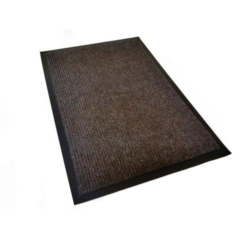 Коврик входной влаговпитывающий ворсовый КОМФОРТ 40х60см коричневый
