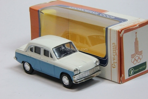 Moskvich-403 two color white-blue Agat Mossar Tantal 1:43