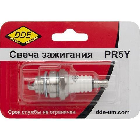 Свеча зажигания DDE - PR5Y (Champion RCJ6Y, Bosch WSR5F, NGK BPMR8A) бензопилы, триммеры, мотобуры до 30 куб.см.