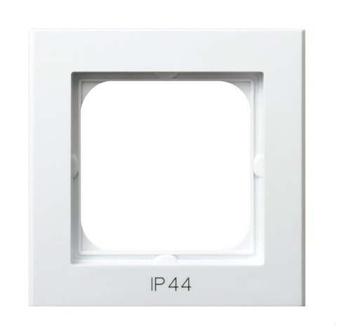 Рамка на 1 пост для выключатель IP-44. Цвет Белый. Ospel. Sonata. RH-1R/00