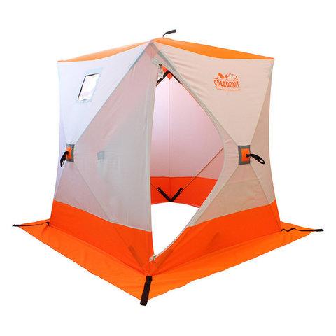 Зимняя палатка куб Следопыт 1,8*1,8 м Oxford 210D PU 1000 PF-TW-11/12 (белый/синий)