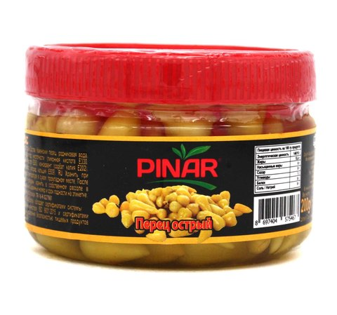Перец острый в рассоле, Pinar, 200 г