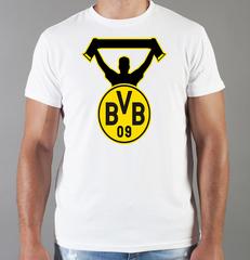 Футболка с принтом FC Borussia Dortmund (ФК Боруссия) белая 001