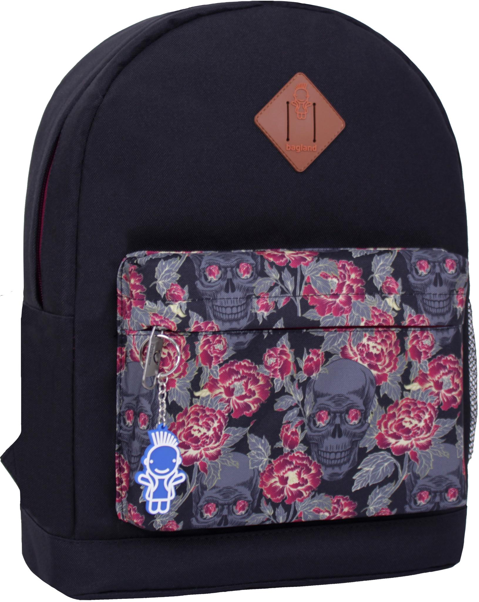 Городские рюкзаки Рюкзак Bagland Молодежный W/R 17 л. черный 468 (00533662) IMG_2427_суб.468_.JPG