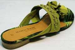 Стильные женские сандалии вьетнамки Marco Tozzi 2-27104-20 Green.